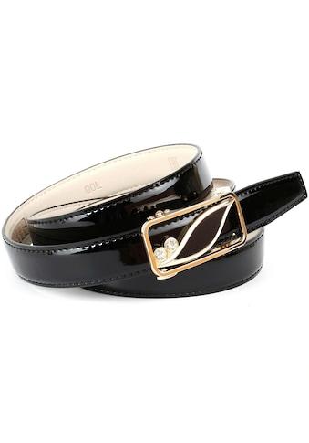 Anthoni Crown Ledergürtel, Traumhafter Automatik Lackgürtel in schwarz kaufen