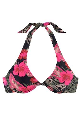 LASCANA Bügel-Bikini-Top »Elsa«, mit floralem Druck kaufen