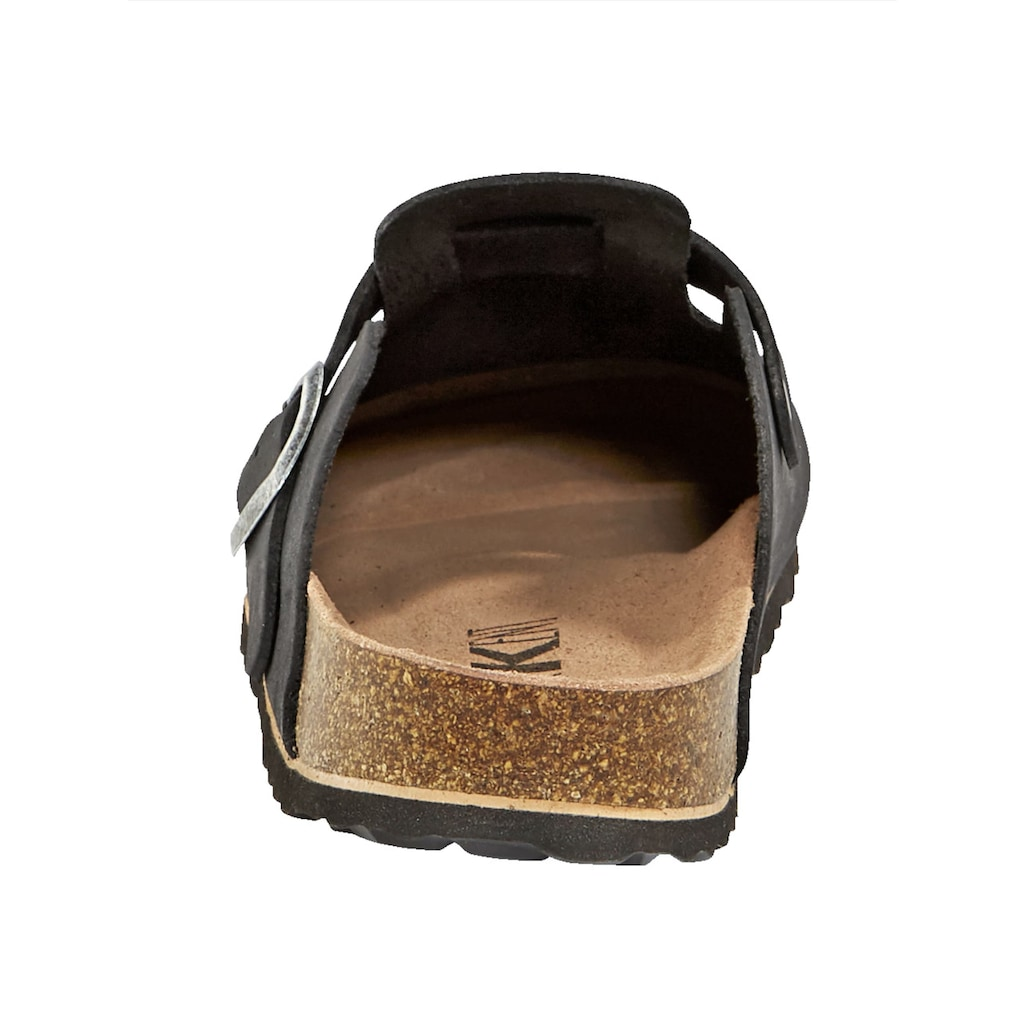 Naturläufer Clog, mit lederbezogenem Korkfußbett