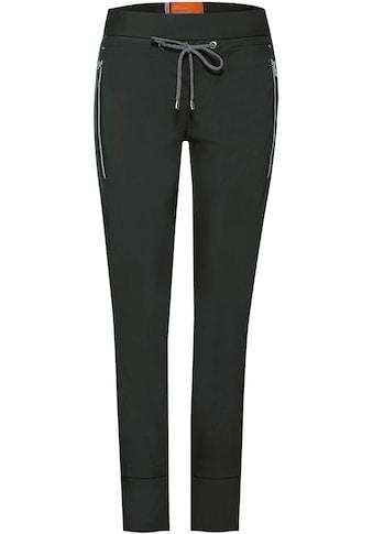 STREET ONE Jogger Pants »Bonny«, mit kontrastfarbenem Bindeband kaufen