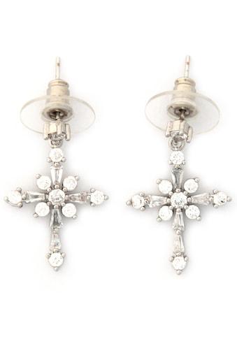 J.Jayz Paar Ohrstecker »Kristall, symbolisch«, mit Glassteinen kaufen