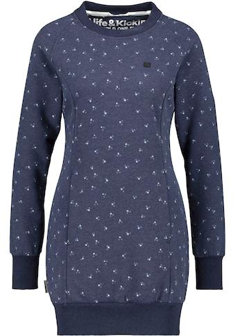 Alife & Kickin Sweatkleid »DeliaAK«, cooler Lons-Sweater mit Alloverprint kaufen