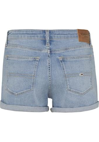 Tommy Jeans Shorts »MID RISE DENIM BERMUDA«, zum krempeln mit TommyJeans Stickerei &... kaufen