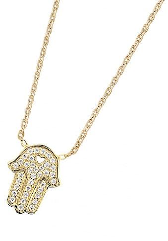 DOOSTI Kette mit Anhänger »Fatimas Hand mit Herz-Symbol, SI-N-33-RH, SI-N-33-YG«, mit... kaufen