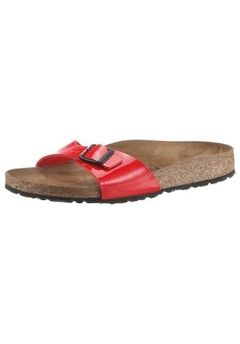 Birkenstock Pantolette »MADRID BF«, in Lack-Optik und schmaler Schuhweite kaufen