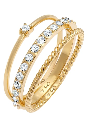 Elli Ring-Set »0607890620, 0607960620«, (Set, 3 tlg.), mit Kristall kaufen