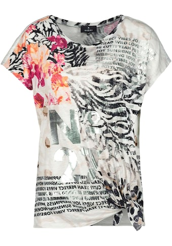 Monari Kurzarmshirt, im Mustermix mit seitlichem Knoten kaufen