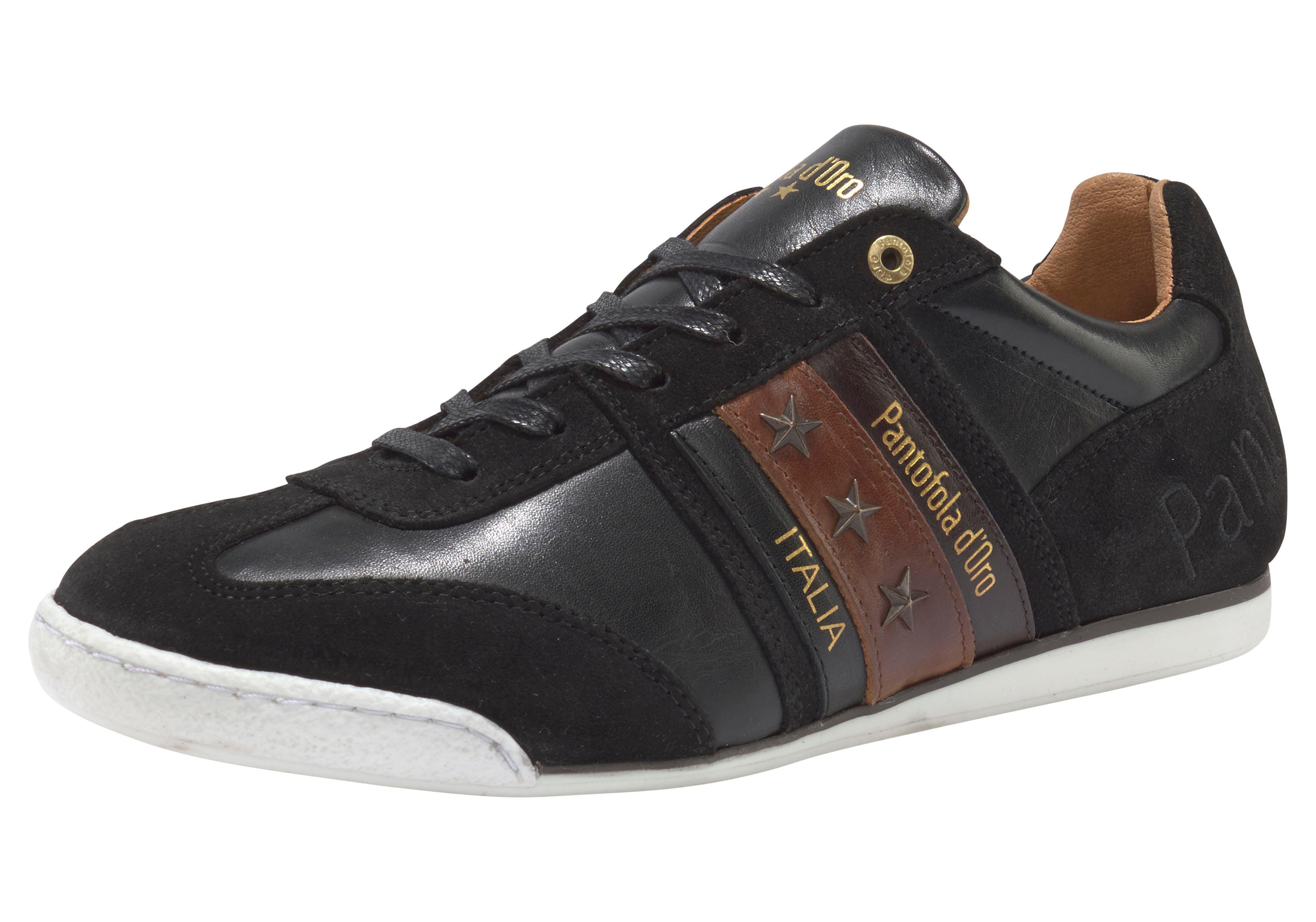 Pantofola d´Oro Sneaker Imola Uomo Low | Schuhe > Sneaker > Sneaker low | Schwarz | Velours | Pantofola D´Oro