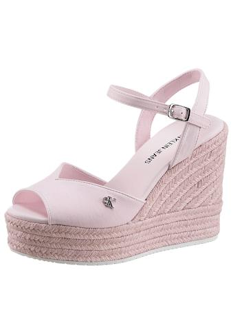 Calvin Klein High-Heel-Sandalette »SENIA«, mit verstellbarer Schnalle kaufen