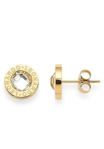 LEONARDO Paar Ohrstecker »015568, gold/klar Matrix« kaufen