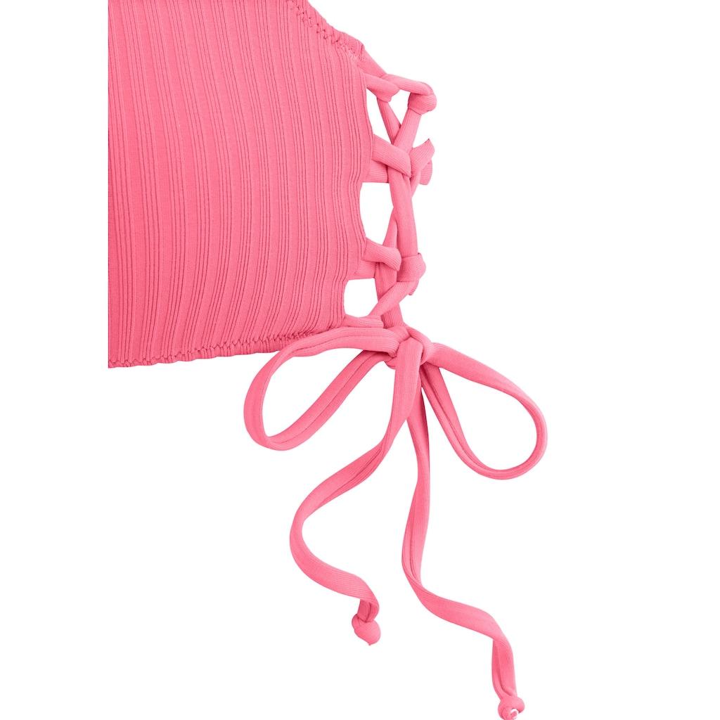 LASCANA Bustier-Bikini-Top »Rippe«