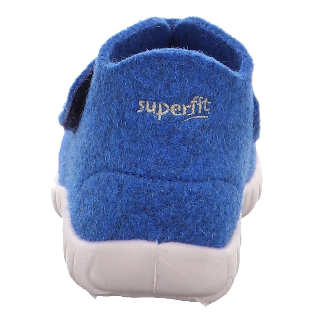 Superfit Hausschuh »HAPPY mit WMS Schuhweiten Mess System«, mit breitem Klettverschluss