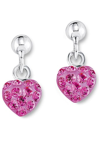 Amor Paar Ohrstecker »Herz, 9210435«, mit Kristallglassteinen kaufen