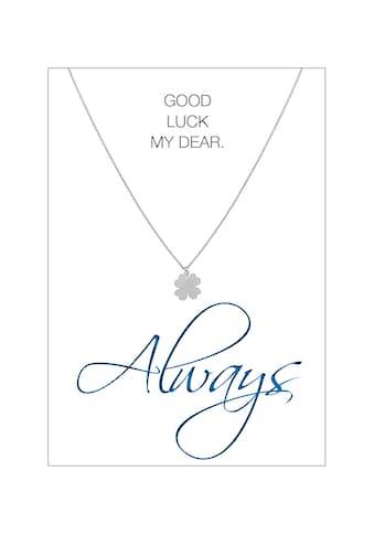 HERZ-KARTE Silberkette »Always«, rhodiniert mit Kleeblatt 925/- Sterlingsilber kaufen