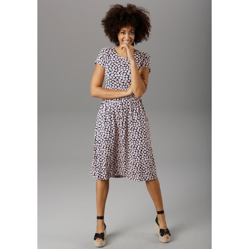 Aniston SELECTED Sommerkleid, mit breitem Bund in der Taille - NEUE KOLLEKTION