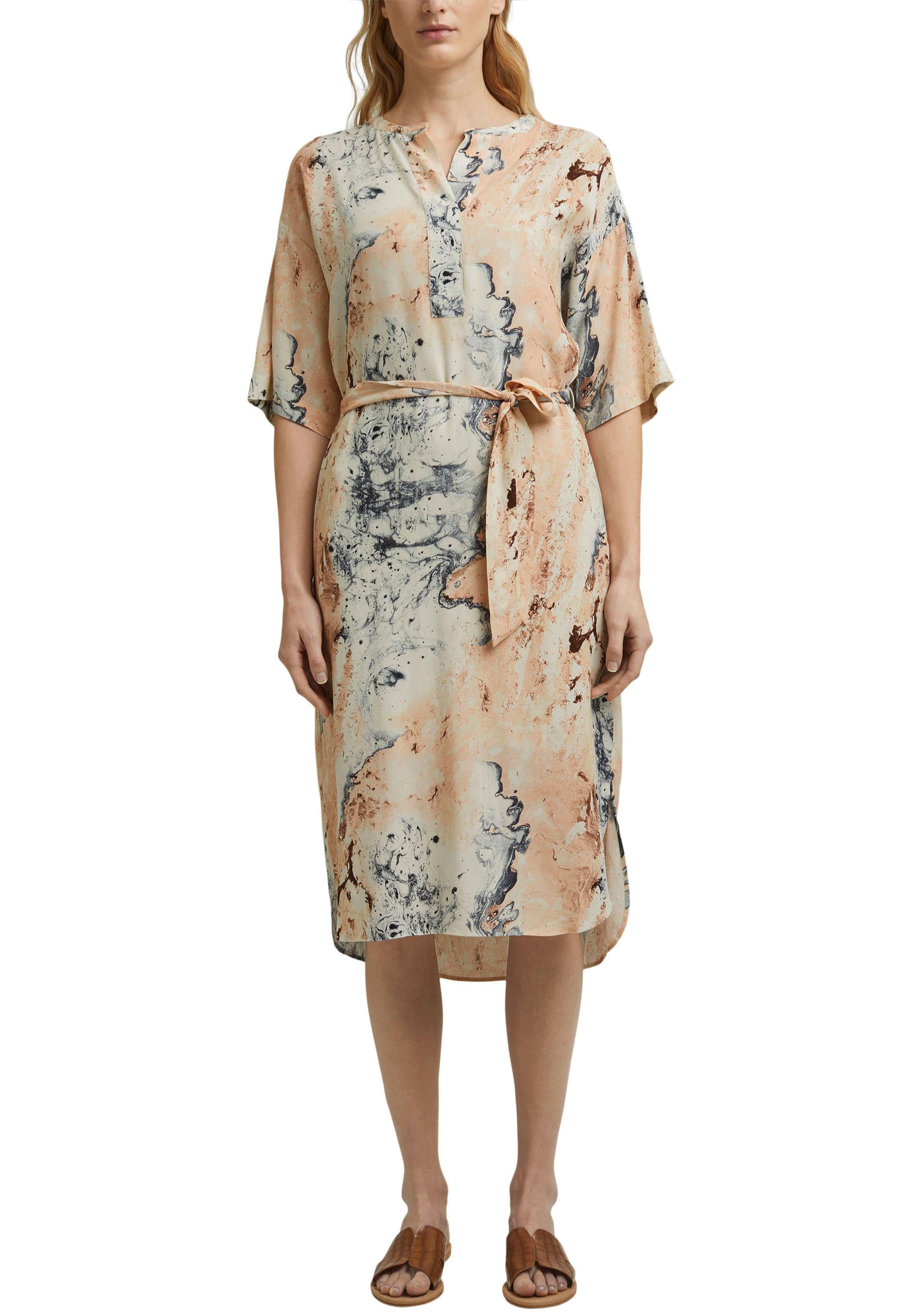 esprit collection -  Blusenkleid, mit Bindegürtel