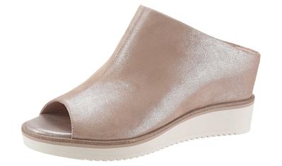 Tamaris Pantolette »ALIS«, im schimmernden Metallic-Look kaufen