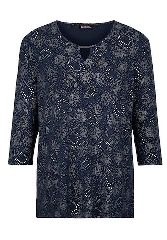 m. collection 3/4-Arm-Shirt, rundum mit strukturiertem Glitzerdruck kaufen