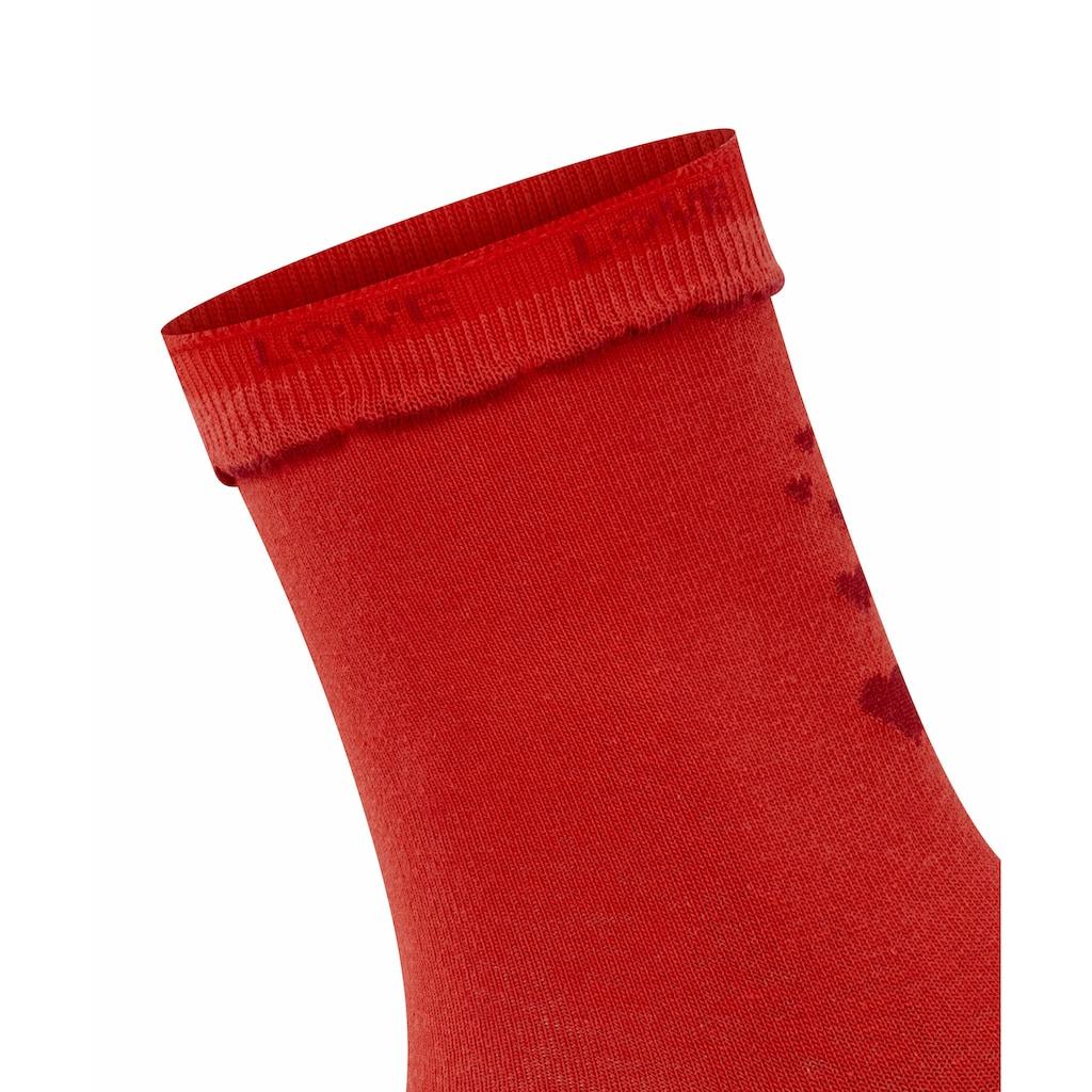 Burlington Socken »Secret Love Letter«, (1 Paar), ein pflegeleichtes Material