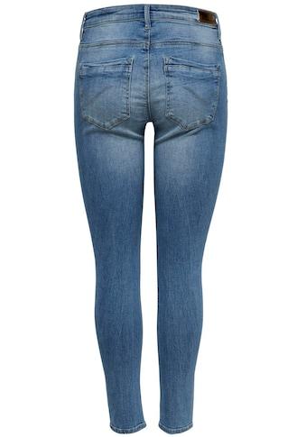 Only High-waist-Jeans »ONLPAOLA«, mit leichten Destroyed Effekten kaufen