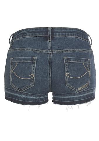 KangaROOS Jeansshorts, mit offener Saum-Kante und Used-Effekten kaufen