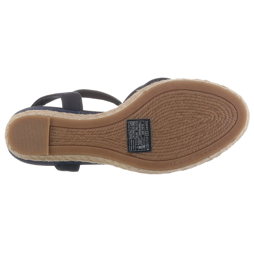 Tommy Hilfiger Sandalette »TOMMY GRADIENT MID WEDGE SANDAL«, mit verstellbarer Schnalle