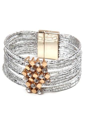 COLLEZIONE ALESSANDRO Armband »A2822-F102«, mit Glassteinen kaufen