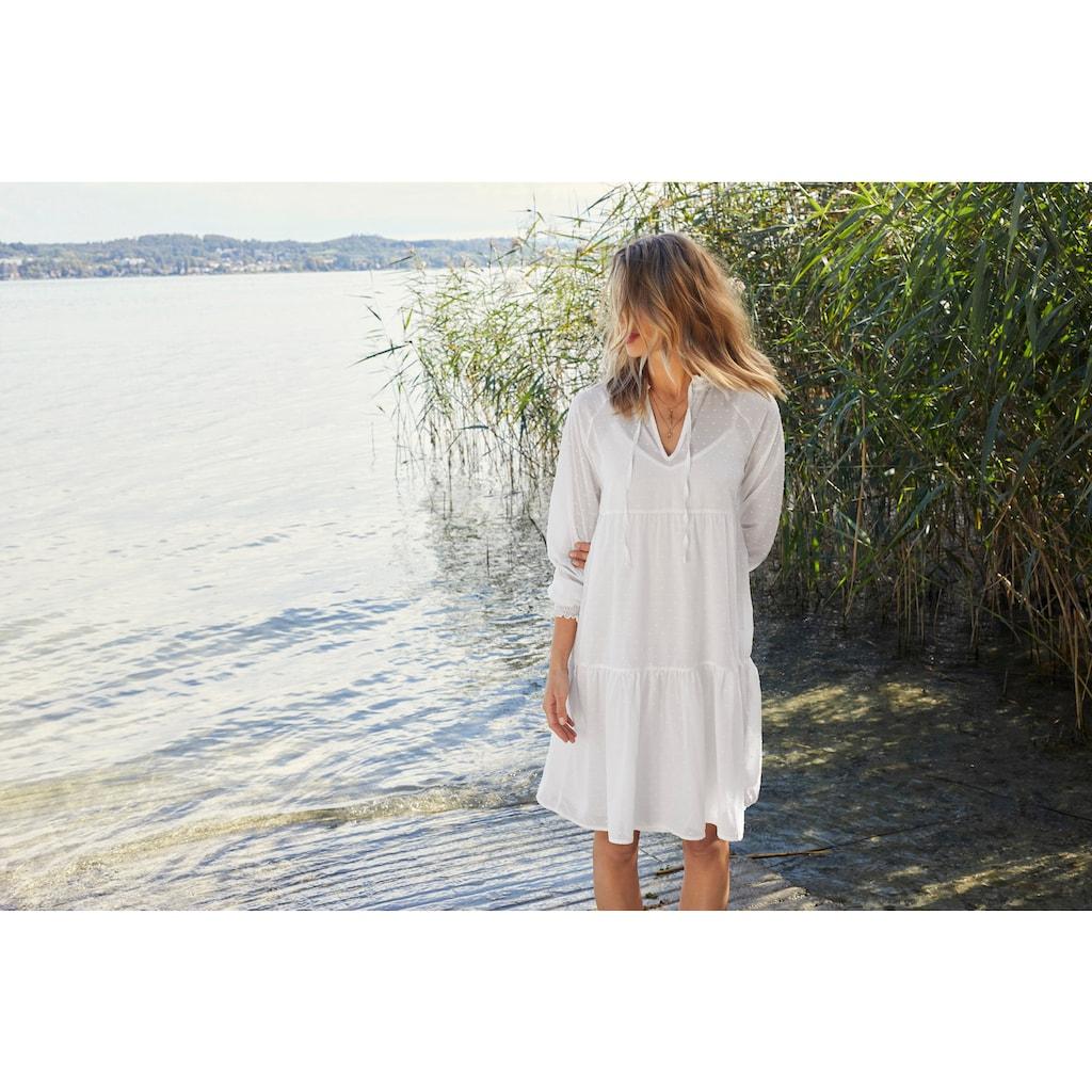 Aniston CASUAL Sommerkleid, (Set, 2 tlg.), mit eingewebten Punkten