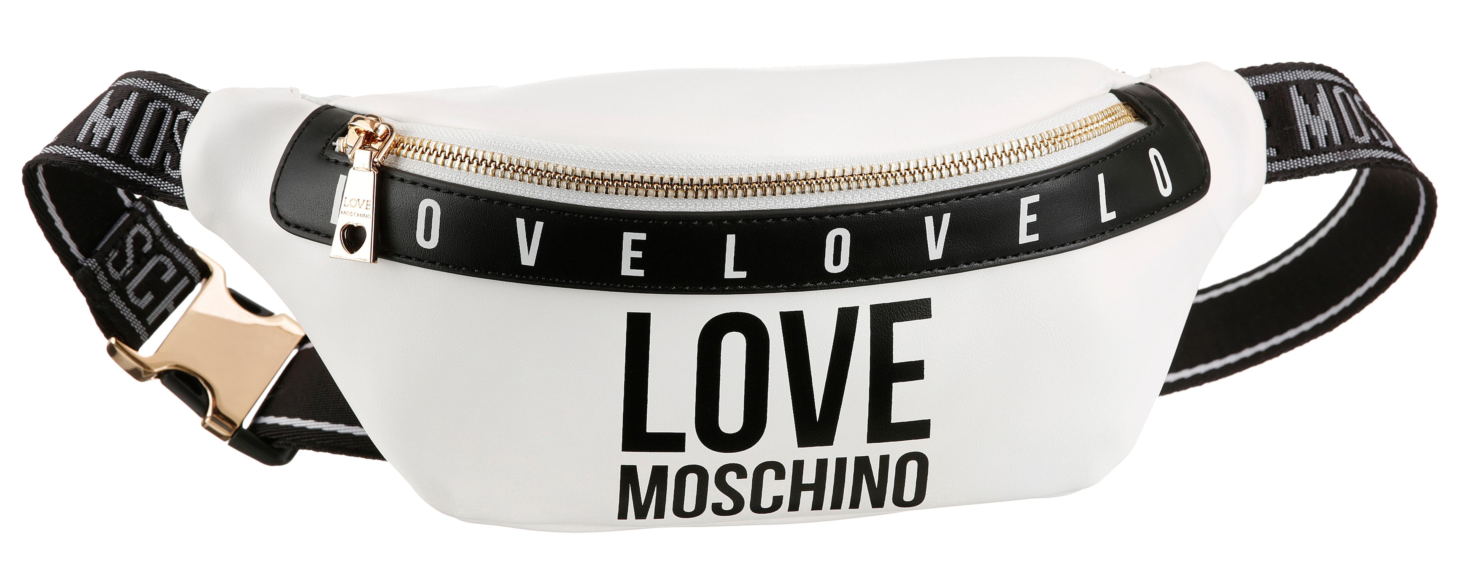 love moschino -  Gürteltasche, mit modischem Logo Druck