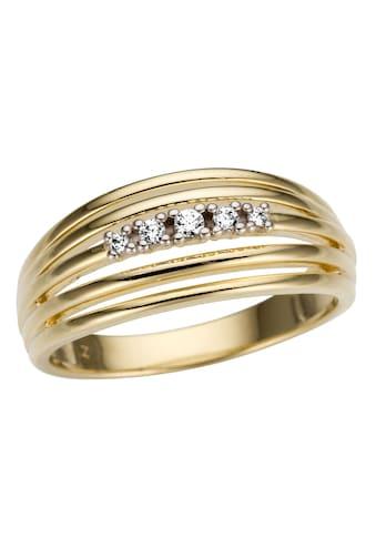 Firetti Goldring »Teilweise mehrreihig und rhodiniert, Glanz, massiv« kaufen