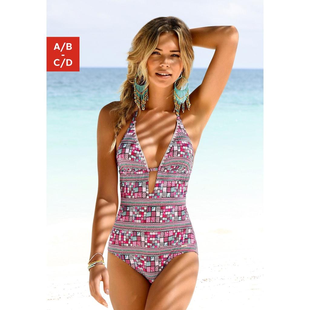 Sunseeker Badeanzug, mit grafischem Print
