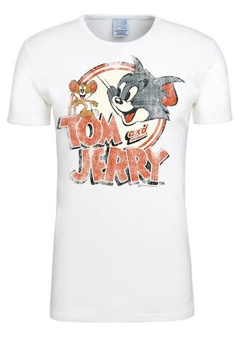 LOGOSHIRT T-Shirt »Tom & Jerry-Logo«, mit lizenziertem Originaldesign kaufen