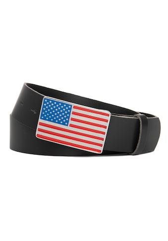 CASSANDRA Ledergürtel »USA«, mit bunter Koppelschließe kaufen
