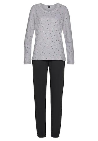 Vivance Dreams Pyjama, mit gemustertem Longsleeve kaufen