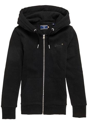 Superdry Sweatshirt »ORANGE LABEL ZIPHOOD NS«, Kapuzenjacke aus der Orange Label... kaufen