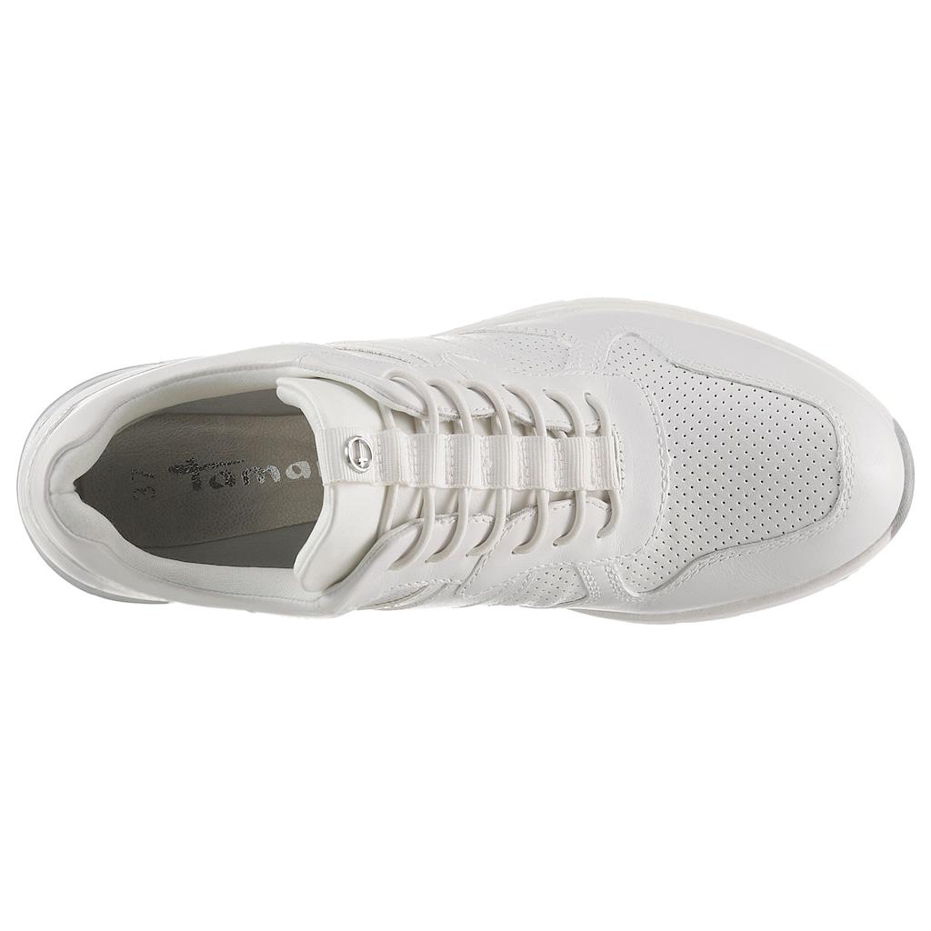 Tamaris Wedgesneaker, im schlichten Look