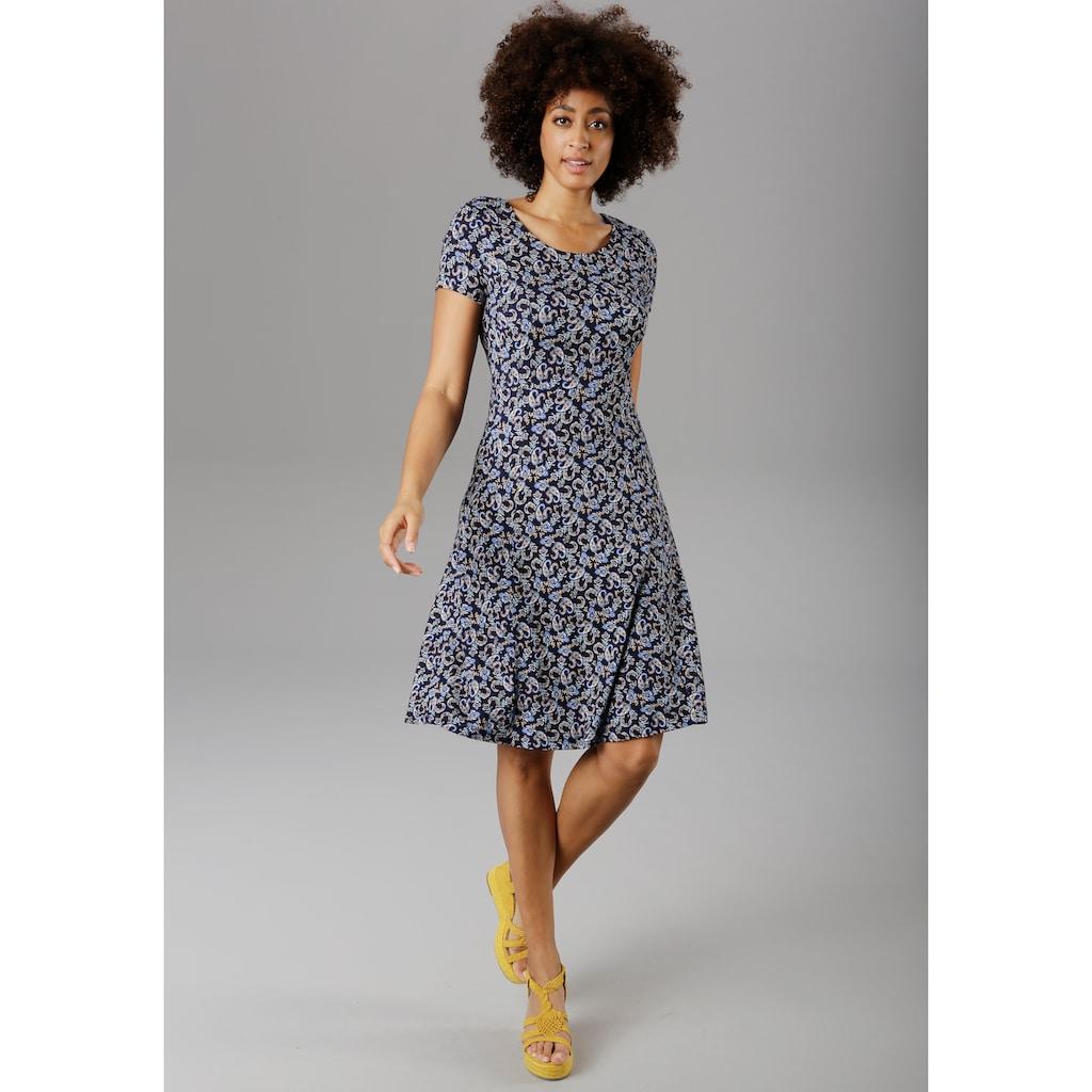 Aniston SELECTED Sommerkleid, mit modischem Rückenausschnitt