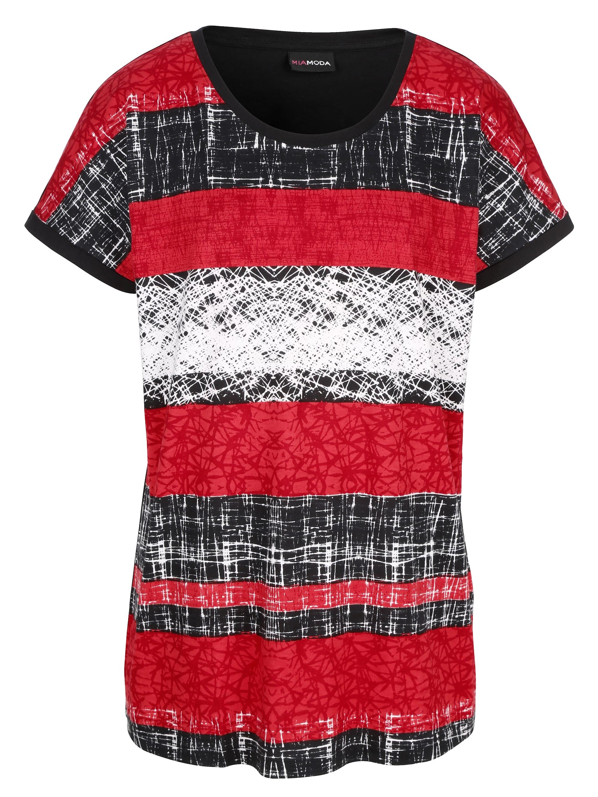 miamoda -  Print-Shirt, mit platziertem Druck