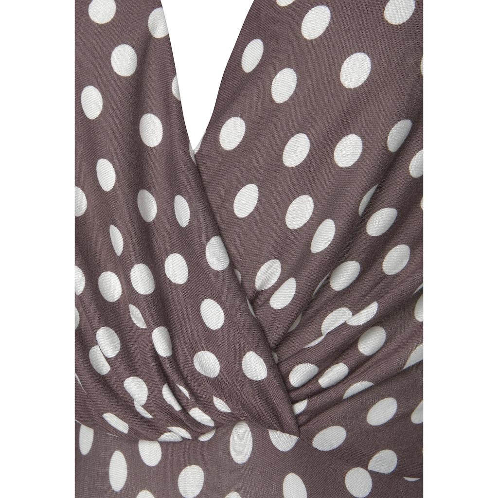 LASCANA Jerseykleid, im Tupfendesign
