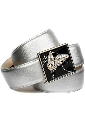 Anthoni Crown Ledergürtel, mit handgefertigter, glänzender Glasur-Schließe kaufen