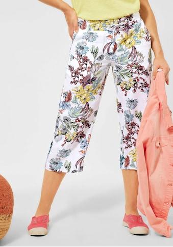 Cecil Culotte, aus Leinen, Schlupfhosenform mit floralem Druck kaufen