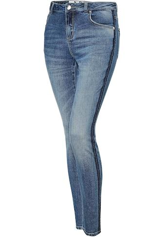 OPUS Skinny-fit-Jeans »Evita dark blue«, mit seitlichem Waschstreifen kaufen