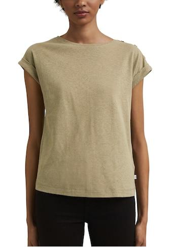edc by Esprit T-Shirt, mit Knopfleiste auf einer Schulter kaufen