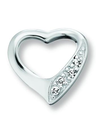 ONE ELEMENT Herzanhänger »Herz Anhänger Herz aus 925 Silber und Zirkonia«, Herz kaufen