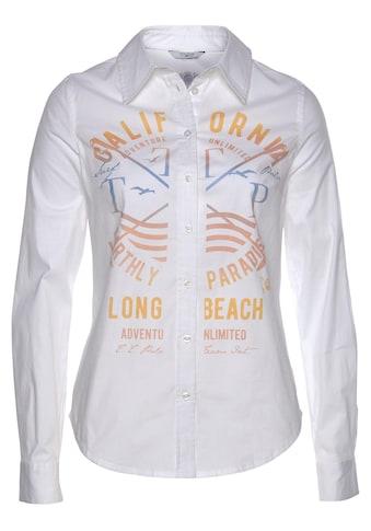 TOM TAILOR Polo Team Hemdbluse, mit Druck vorn und auf dem Ärmel kaufen