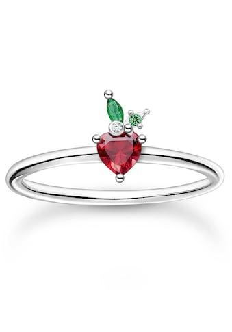 THOMAS SABO Silberring »Erdbeere, TR2350-699-7-48,50,52,54,56,58,60«, mit Glas-Keramik... kaufen