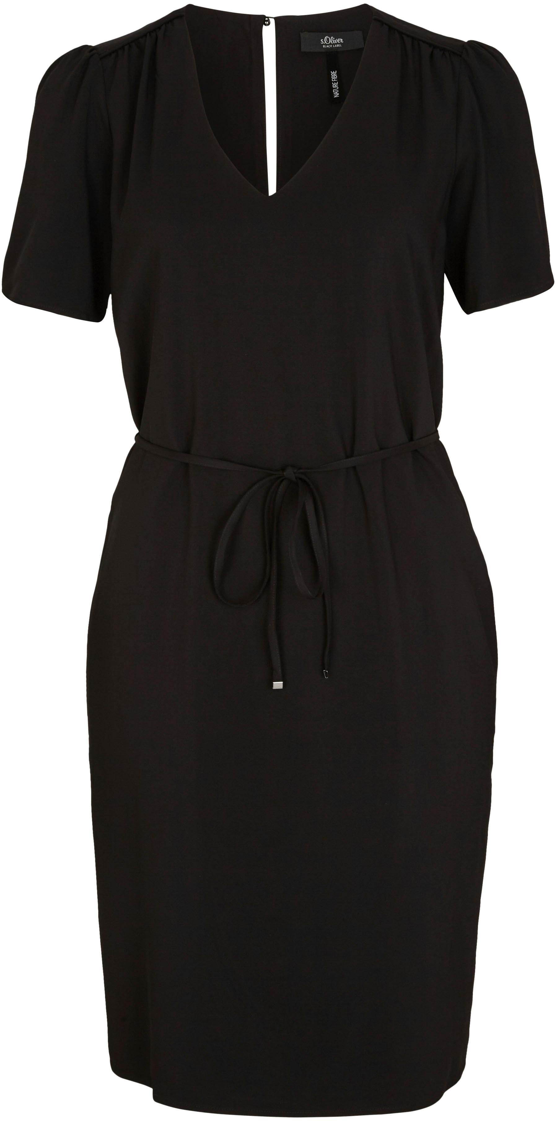 s.oliver black label -  Blusenkleid, in italienischer Länge und mit Bindeband in der Taille
