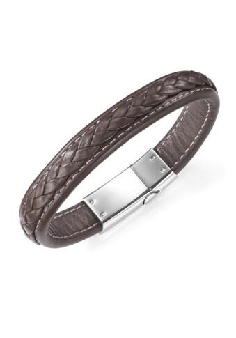 Jacques Charrel Armband »Lederband mit Steckschloss, Edelstahl« kaufen
