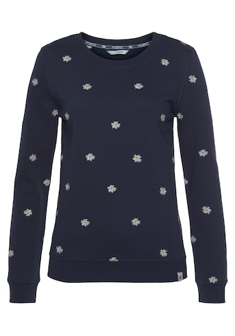 TOM TAILOR Polo Team Sweatshirt, rundum mit Gäneblümchen bestickt kaufen
