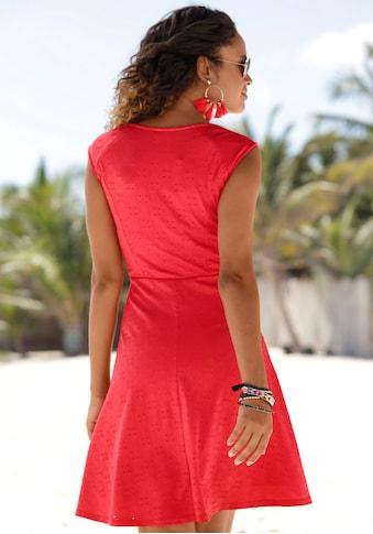 Beachtime Sommerkleid, mit Lochstickerei kaufen